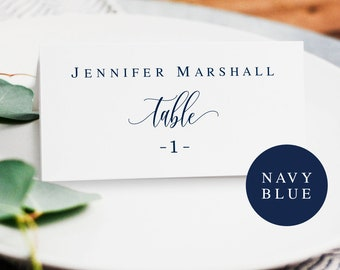Navy editable placecards Navy place cards template Navy blue wedding place cards Wedding seating cards template Navy wedding template #vm13