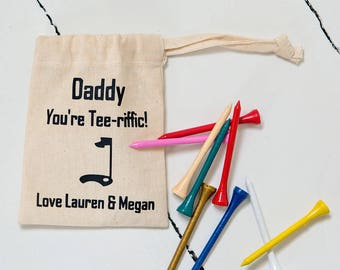 Dad's Golf Tee pouch with Tee's - Christmas or Father's Day!