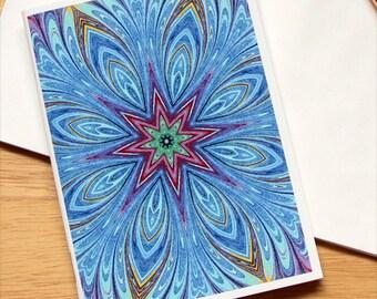 Marbled Paper Kaleidoscope Design Notebook no. 2