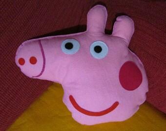 Peppa Pig Handmade decorative Pillow in Felt