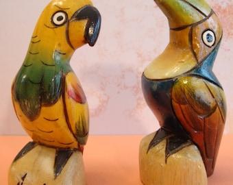 Decorative Wood Parrots