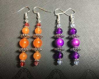 Elegant Colorful Drop Earrings