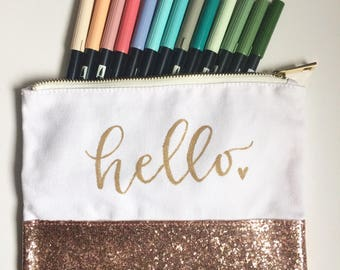 Handlettered Pencil Case