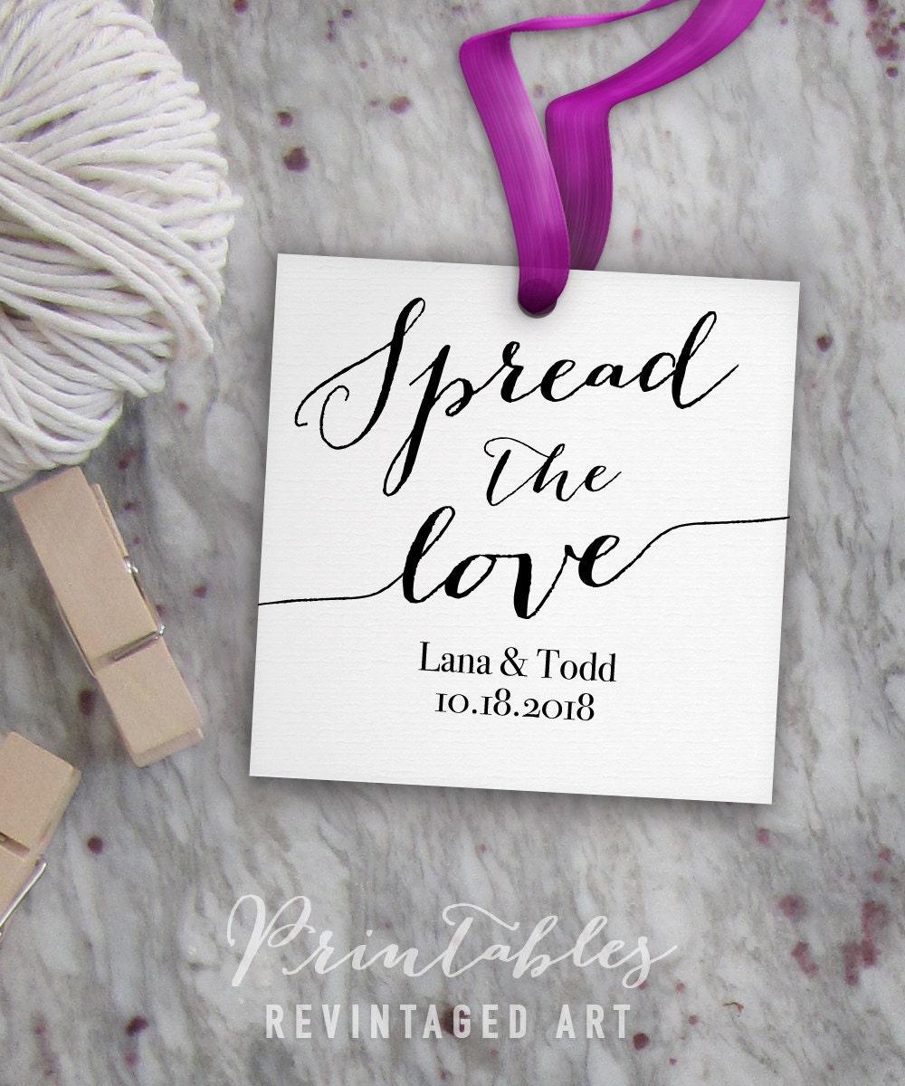 Spread the Love Tags // Editable Wedding Favor Tags Printable ...