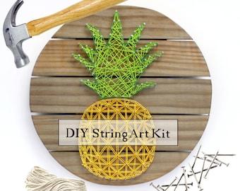 DIY Pineapple String Art Wood Pallet Sign Kit