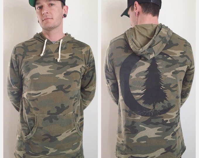 Featured listing image: Unisex Woodland Camo Burn Out French Terry Hoodie