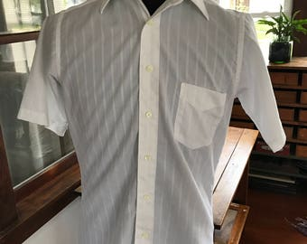 Vintage Sears Roebuck Short Sleeves Dress Shirt