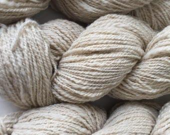 Angora bunny and CVM Romeldale wool blend yarn- Soft luxury