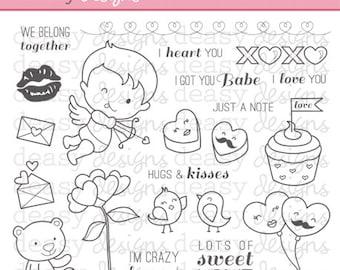 "Digital Stamp Art "" XOXO"""