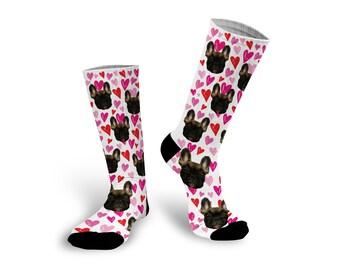 Custom Photo Socks, Personalized Photo Socks, Custom Printed Photo Socks, Custom Printed Socks, Pet Photo on Socks --62144-SOX2-603