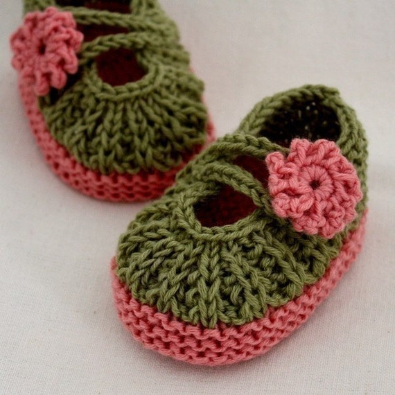 Knitting Pattern Pdf File Daisy Baby Booties 0 66 12 Months