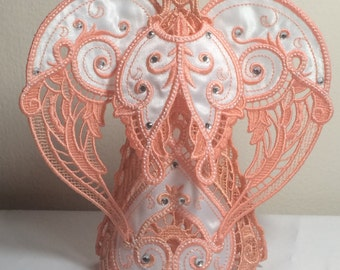 Freestanding Lace Angel with Gems