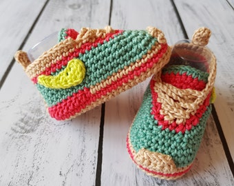 Baby Sneakers Nike Style. Children crochet booties. Nike style baby shoes. CROCHET PATTERN