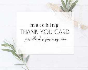 Matching Thank You Cards for Your Desired Listing | PrisellieDesigns