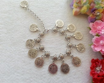 Turkish Bohemian Coin Anklet.