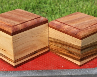Pet Cremation Urn(55 pounds)-Bottom Loading-Ambrosia Maple and African Mahogany-REDUCED