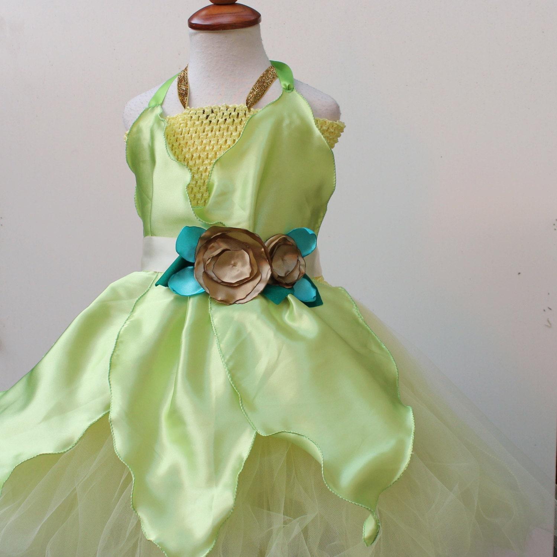 Princess Tiana Outfit: Tiana Disney Princess Costume Tutu Dress Light Green