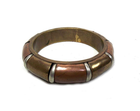 Vintage Brass and Copper Bangle