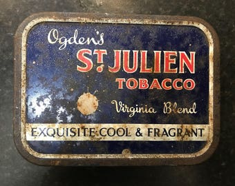 Vintage Tobacco tin, Ogdens St Julien Virginia Blend