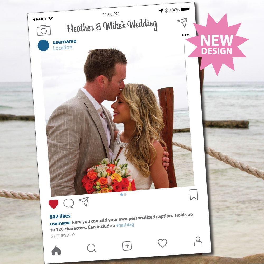 Instagram Rahmen Photo Booth Requisiten, Photobooth stützen, Instaframe, soziale Medien, digitale Download, individuelles Design, Hochzeit Requisiten
