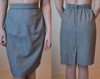 High Waisted Houndstooth Skirt Vintage / Size S