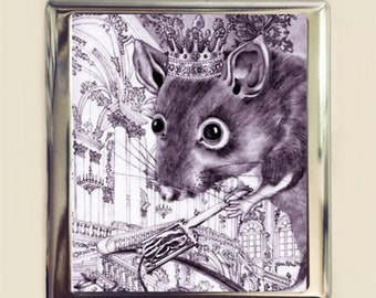 Rat King Cigarette Case Business Card ID Holder Wallet Storybook Fairytale Fairy Tale Mouse