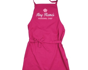 Personalised 'Personal Chef' Apron - choice of colours!