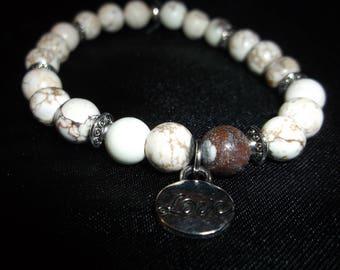White Howlite Stretch Bracelet