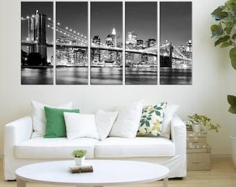 The Brooklyn bridge canvas art prints, The Brooklyn bridge canvas art prints wall art, Extra Large wall art photo Print,  no:8s88