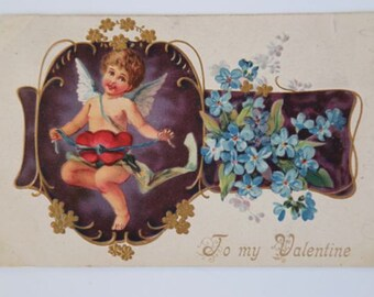 Vintage Valentine Postcard Early 1900's