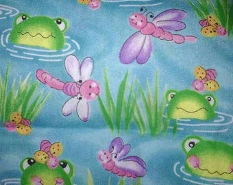 Vintage Frogs & Dragonflies Fabric