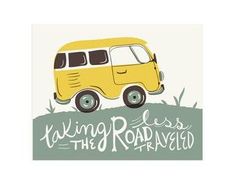 The Road Less Traveled Art Print 8x10 11x14