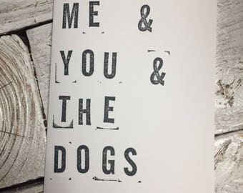 Love card // me & you and the dogs • dog card • anniversary card