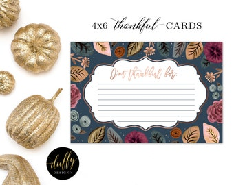 Thankful For Cards, Thanksgiving note Cards, Thanksgiving Cards, Thanksgiving Place Cards, Thanksgiving Table Decor, Holiday Place Cards