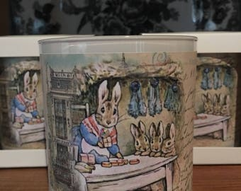 Peter Rabbit 11oz boxed Soy Candle Hostess Gift Ideas Birthdays Showers Home Decor Easter Decor Scented Candles Peter Rabbit Candle