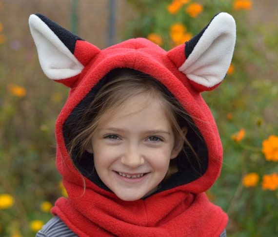 Fleece Hat Sewing Pattern - Hoodie Cowl Winter Hat PDF Instant ...
