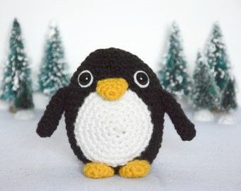 CROCHET PATTERN: Penguin - amigurumi, stuffed animal, winter