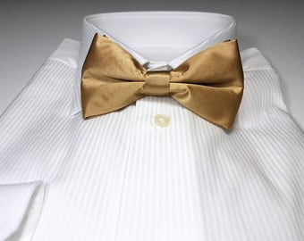 Gold Silk Bow Tie with Gift Box