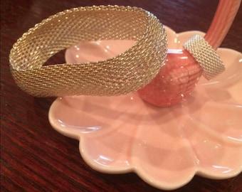 Sterling Silver Mesh Bracelet Set