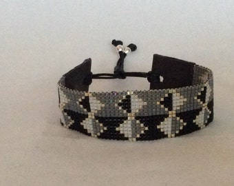 Wide miyuki delica bracelet