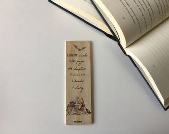 Harry Potter Facts Wooden Bookmark // All the facts