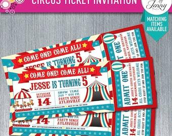 CIRCUS TICKET Generic birthday invitation
