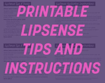 Printable LipSense Tips and Tricks insert cards (4 per page)