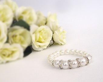 Bridesmaid Jewelry Wedding Jewelry Bracelets White Pearl Wedding Jewelry Cream Bridesmaid Beaded Bracelet Pearl