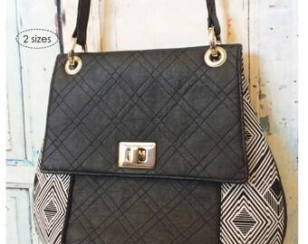 cozy nest design- the Belinda Bag Sewing Pattern - pdf download