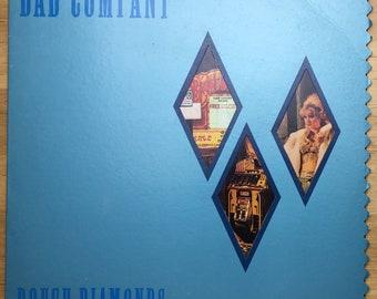 Bad Company - Rough Diamonds (1982) Die-cut Vinyl LP; Electricland