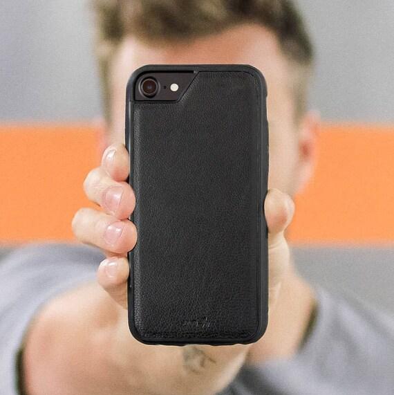 black leather iphone 7 plus case