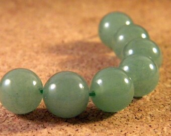 5 natural Aventurine beads - 10 mm - Green - gem stone PP150