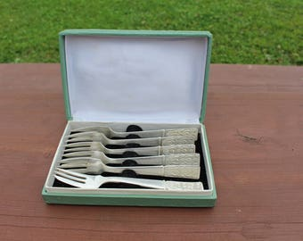German silver cake forks Vintage dessert forks Melchior cake forks Vintage cake forks Vintage dessert forks Vintage silverware