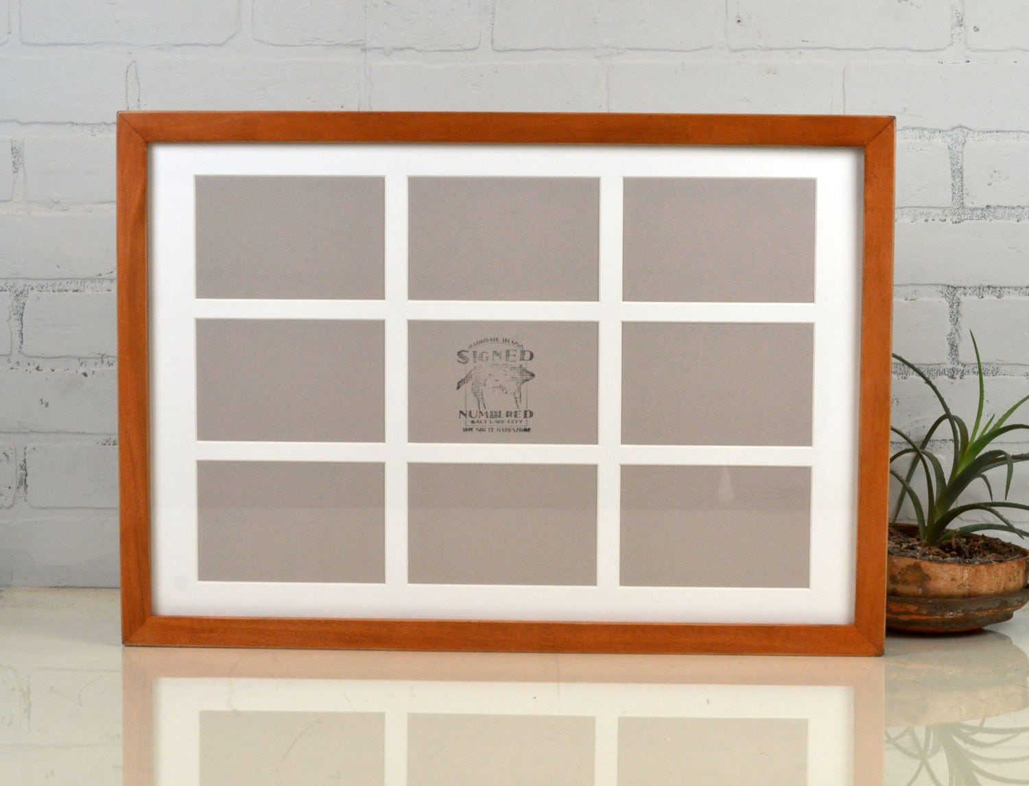 Collage Frame 15x22 1x1 Flat Style with Mat Windows for (9) 4x6 ...